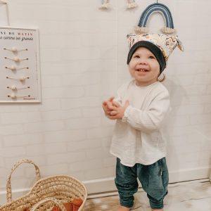 Sarouel évolutif jersey velour bébé enfant