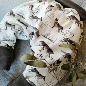 sarouel sweat loup oeko tex evolutif bebe enfant