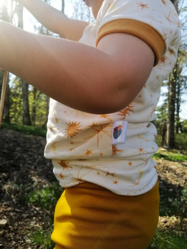 haut t-shirt lune soleil galaxie univers oeko tex evolutif bebe enfant