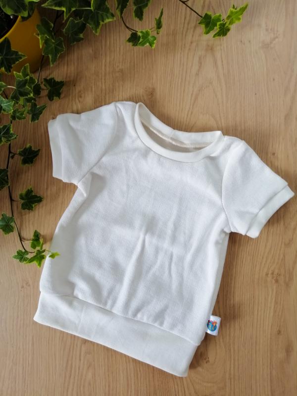 haut t-shirt évolutif maille coton crème oeko tex evolutif bebe enfant
