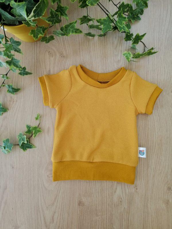 haut t-shirt évolutif maille coton moutarde oeko tex evolutif bebe enfant